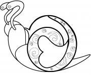 esargot avec des motifs spirales dessin à colorier