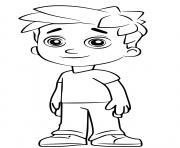 Alex porter petit fils de monsieur porter dessin à colorier