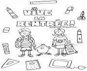 deux etudiants pour la rentree scolaire maternelle dessin à colorier