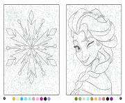 La Reine des neiges MAgique Disney dessin à colorier