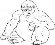 gorille animal jungle dessin à colorier