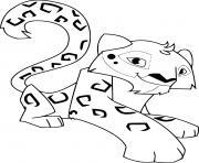 cartoon panthere leonard jungle dessin à colorier