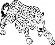 Coloriage jaguar felin panthera de la jungle
