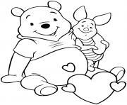 winnie pooh et porcinet les meilleurs amis dessin à colorier