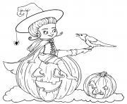 Coloriage soricere halloween mijotte dessin