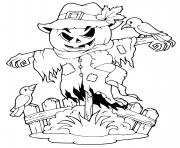 halloween scarecrow dessin à colorier