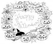 joyeuse halloween mandala dessin à colorier