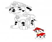 Marcus le dalmatien ambulancier dessin à colorier