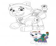 Everest aime sa souffleuse a neige dessin à colorier