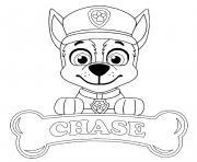 Chase Chien Pat Patrouille aime les bateaux de police dessin à colorier