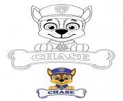 Chase policier et espion dessin à colorier