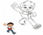 ryder jeune de 10 ans aime les aventures dessin à colorier