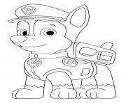 Chase berger allemand dessin à colorier