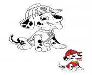 Marcus le dalmatien pompier dessin à colorier