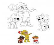 Halloween avec Marcus et Zuma dessin à colorier