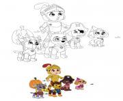Halloween avec la Pat Patrouille dessin à colorier