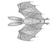 halloween chauve souris zentangle dessin à colorier