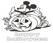 Coloriage le monde de disney happy halloween