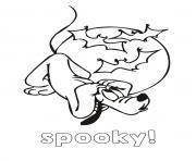 coloriage disney spooky halloween
