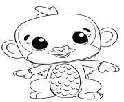 Hatchimals Monkiwi dessin à colorier