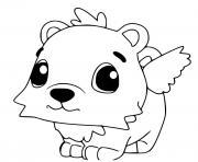 Hatchimals Polar Hummingbear dessin à colorier