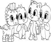 hatchimals animals for kids dessin à colorier