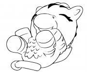Hatchimals Giggling Zebrush dessin à colorier