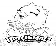 Hatchimals Draggle dessin à colorier