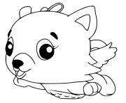 Hatchimals Cloud Kittycan dessin à colorier