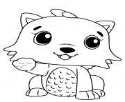 Hatchimals Kittycan dessin à colorier