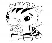 Hatchimals Zebrush dessin à colorier