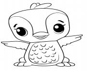 hatchimals oiseau dessin à colorier