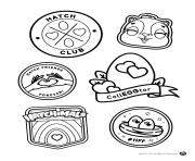 Color Your Own Hatch Club Patches dessin à colorier
