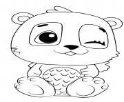 Hatchimals Pandor dessin à colorier