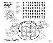 Hatchimals Puzzle Sheet dessin à colorier
