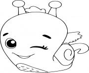 snail hatchimals dessin à colorier