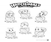 Hatchimals Eggs dessin à colorier