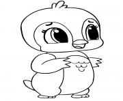 hatchimals penguin dessin à colorier