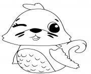 Hatchimals Polar Sealark dessin à colorier