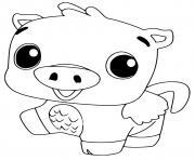 Hatchimals Pigpiper dessin à colorier