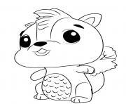 Hatchimals Skunkle dessin à colorier