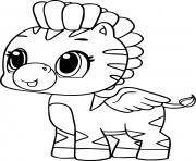 hatchimals poney dessin à colorier