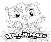 Hatchimals Tigrette dessin à colorier