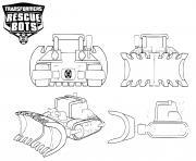 Transformers Rescue Bots Boulder Line Art dessin à colorier