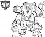 Transformers Rescue Bots Working dessin à colorier