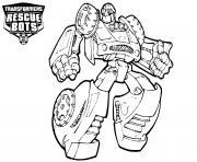 Transformers Rescue Bots Line Drawing dessin à colorier