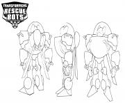 Transformers Rescue Bots Back Front and Side View dessin à colorier