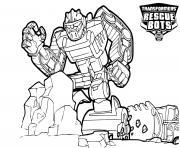 Transformers Rescue Bots Boulder Line Drawing dessin à colorier
