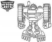 Boulder from Transformers Rescue Bots dessin à colorier