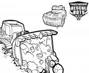 Transformers Rescue Bots Boulder and Chase Working dessin à colorier